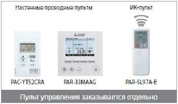 Варианты пультов для канальных кондиционеров SEZ_KD